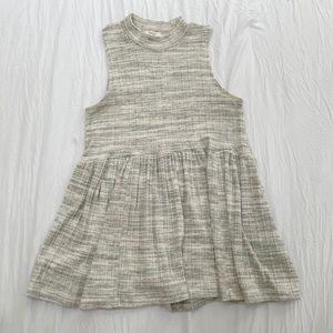 Maurice's Mock Neck Soft Knit Sleeveless High-Low Peplum Women's Tunic in Gray